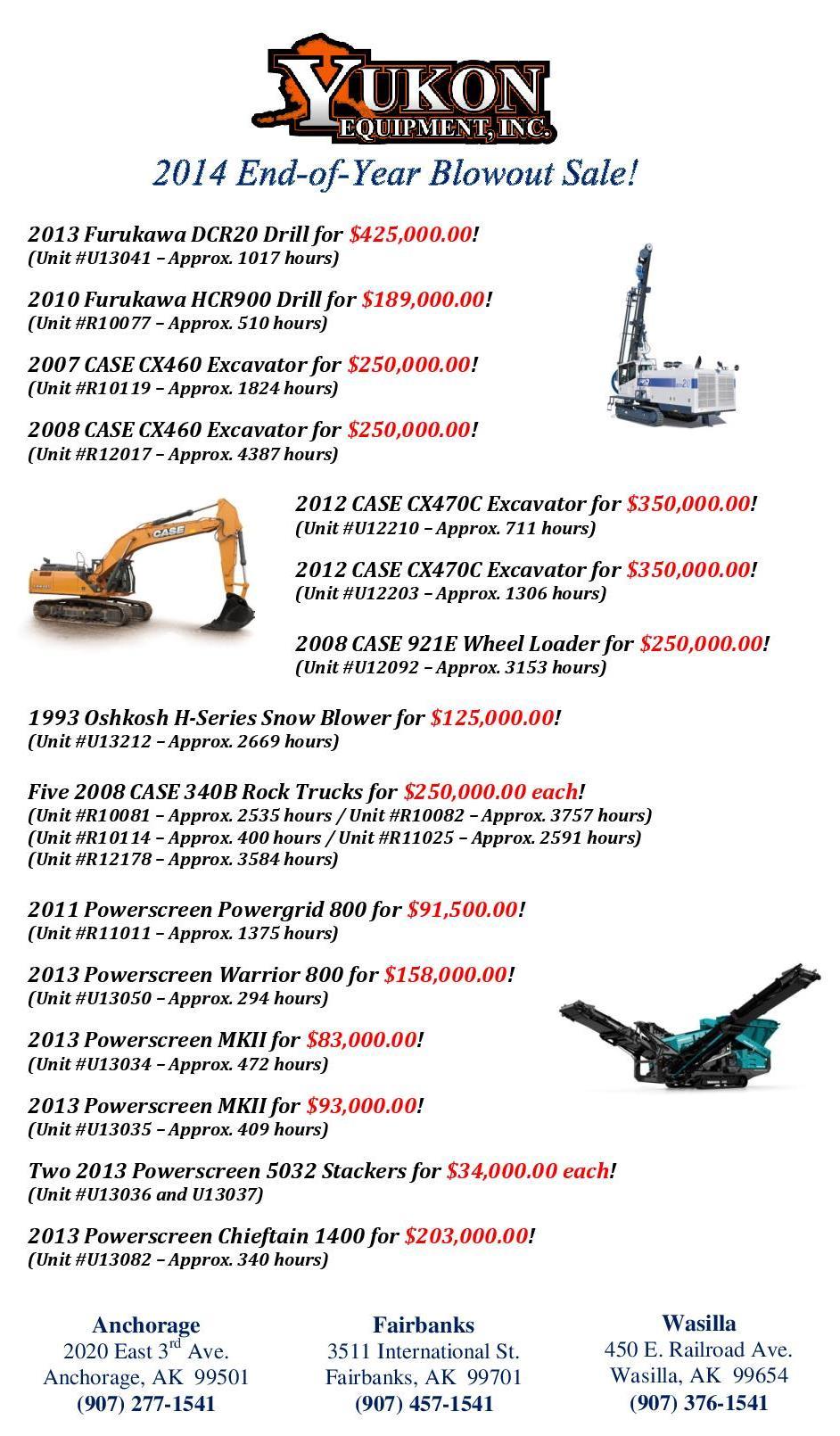 Alaska Case Equipment Dealer: New & Used Sales, Parts